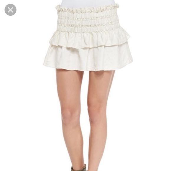 Isabel Marant Etoile Ruffle Mini Skirt Sz 360